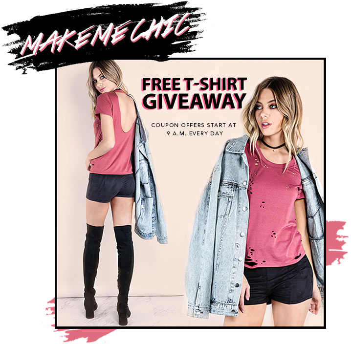 WIN A FREE T-SHIRT FROM MAKE ME CHIC