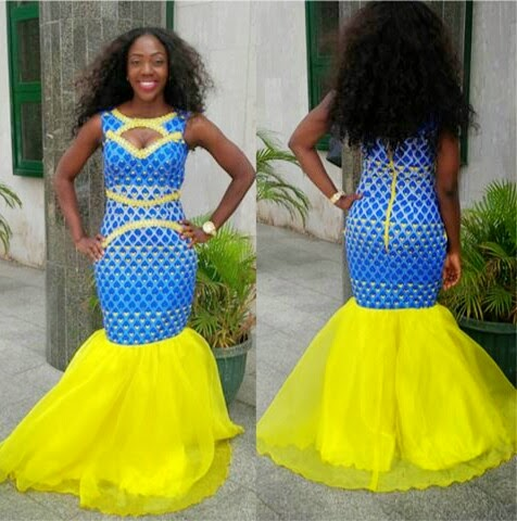 Ankara Lace Combination Style Dezango Fashion Zone