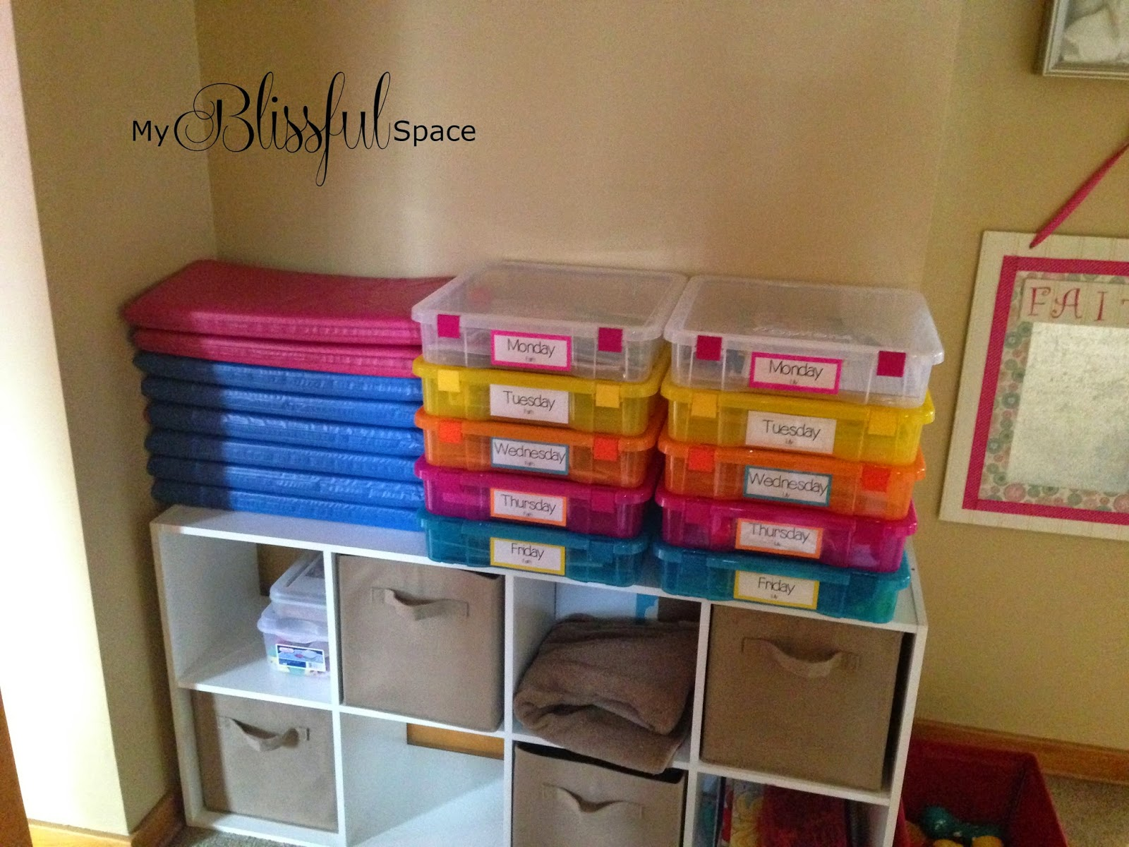 My Blissful Space Busy Boxes For Kids Summer Break Colorize Your Spring Organizing With