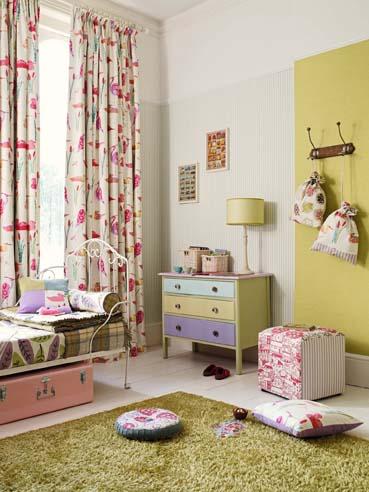 Como en casa en ning n sitio la nueva colecci n de sanderson una apuesta por el color - Gancedo telas ...