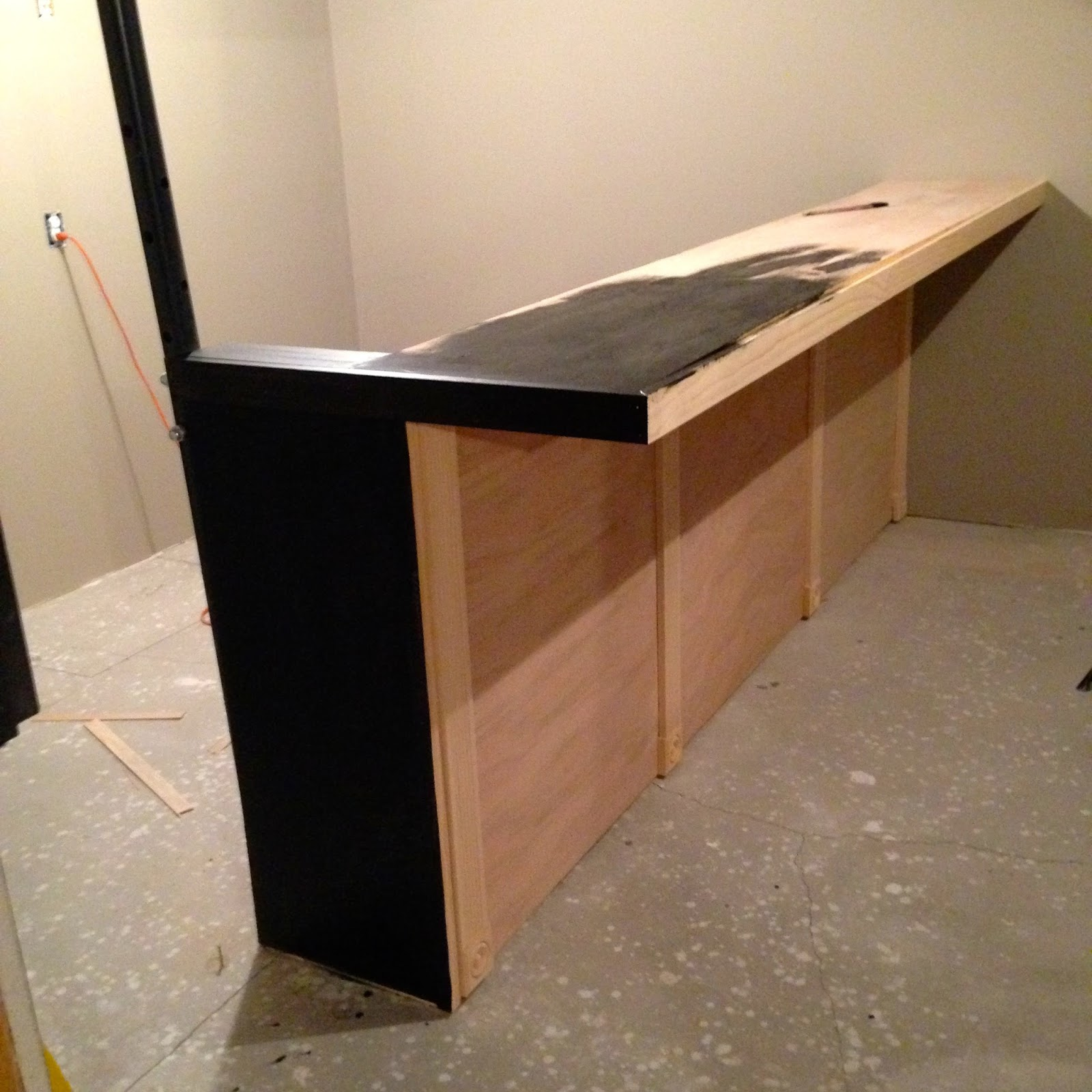 Diy why spend more build your own bar with faux granite for Custom build your home
