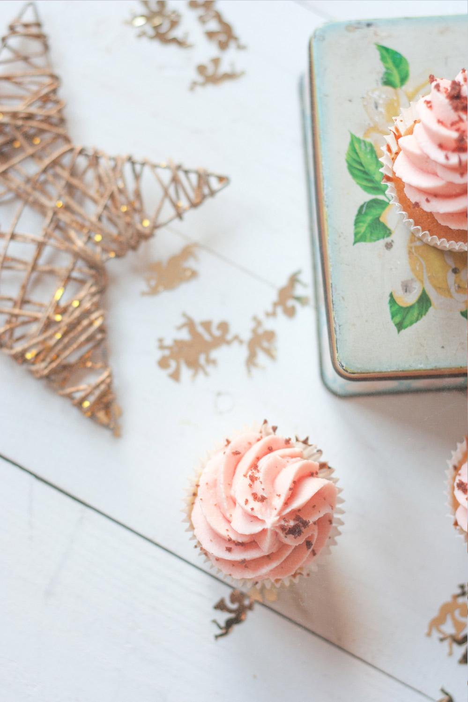 Cupcakes de cava con mascarpone de fresas