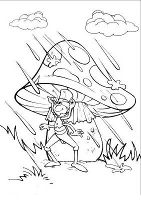 COLOREA TUS DIBUJOS: Flip protejiendose del agua en hongo para ...