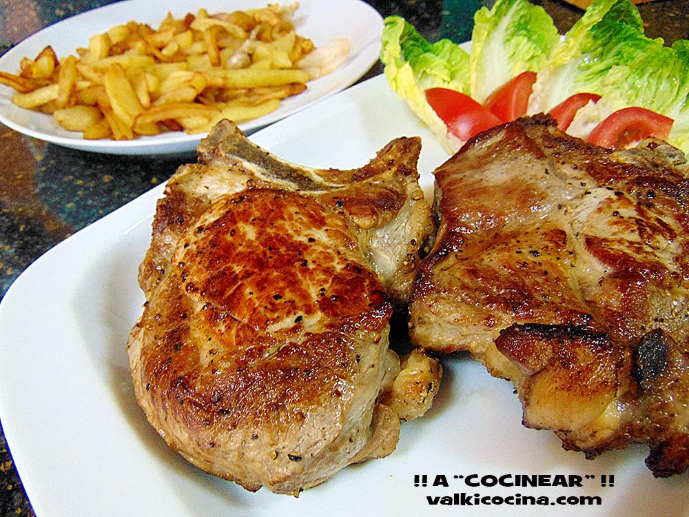 Como Cocinar Un Chuleton | Chuleton De Cerdo Asado Al Horno A Cocinear Recetas