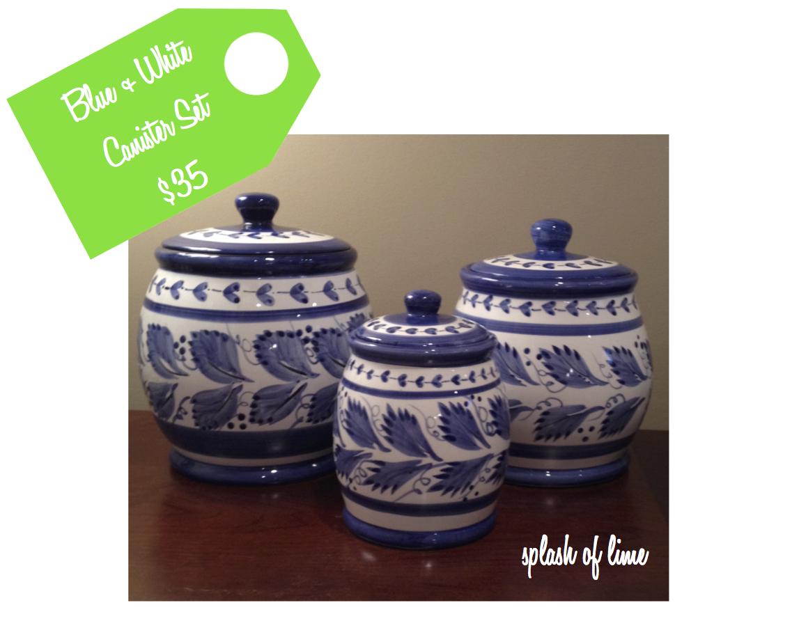 splash of lime 2014 blue white canister set 35
