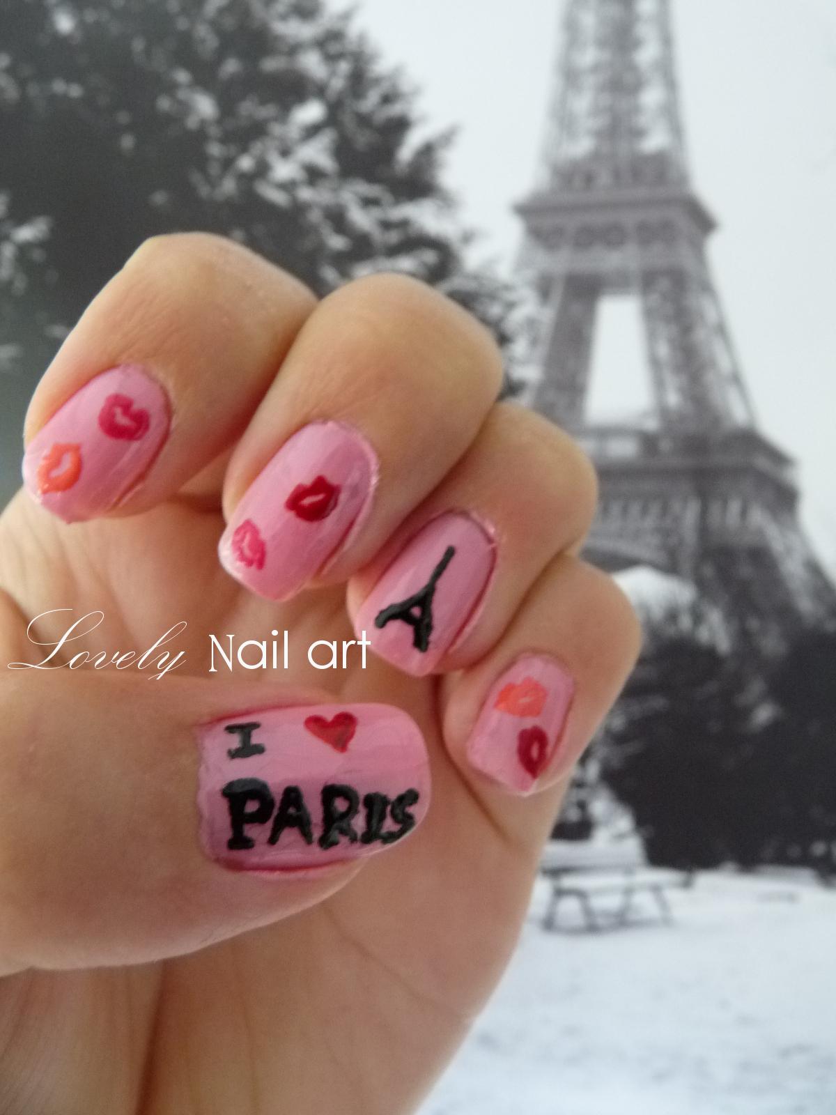 Lovely Nail Art: I love Paris!