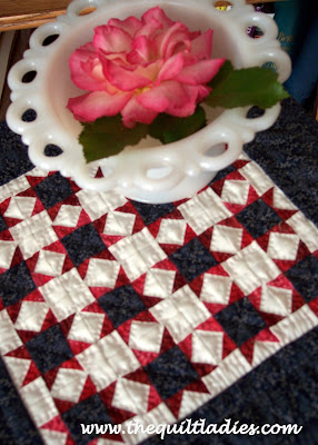 Little Star quilt is red, white and blue