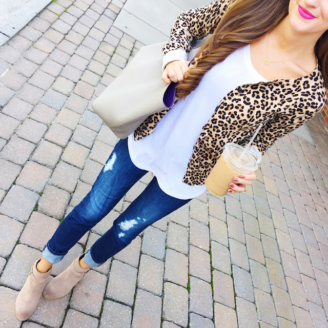 This leopard cardigan is from the kids' section! Only $15!