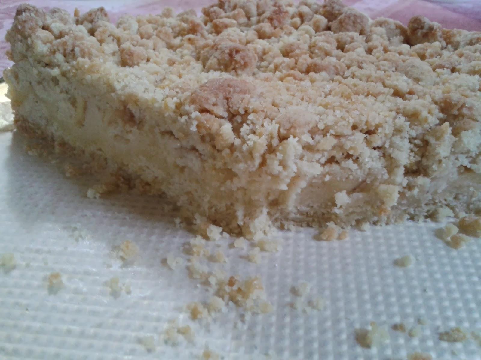 sbriciolata con crema pasticcera e mele