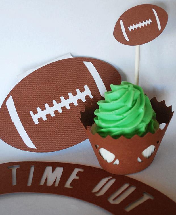 Super Bowl Cupcake Ideas