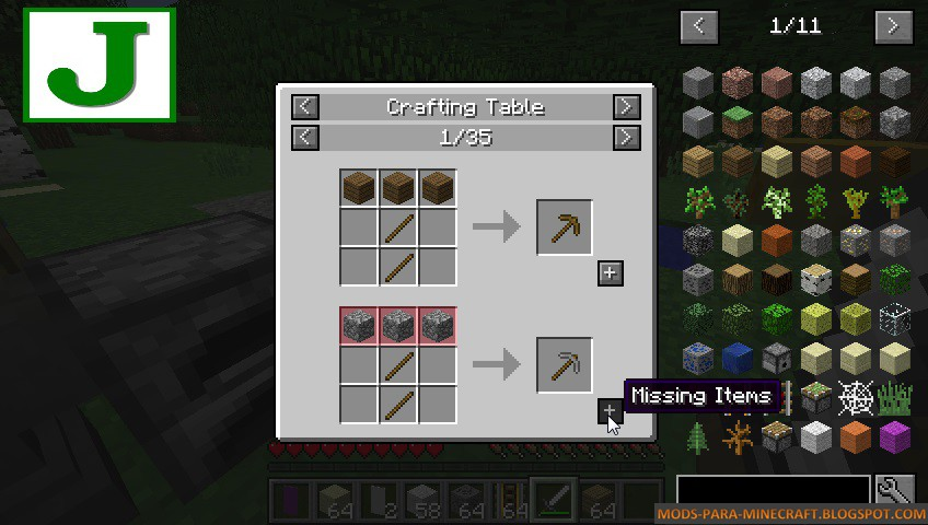 Just Enough Items Mod para Minecraft 1.8/1.8.9