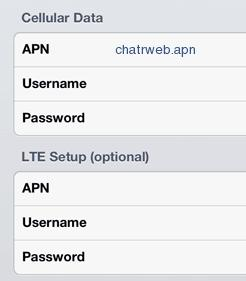 Chatr APN Settings for iPhone 6S 6 5 4S / iPad