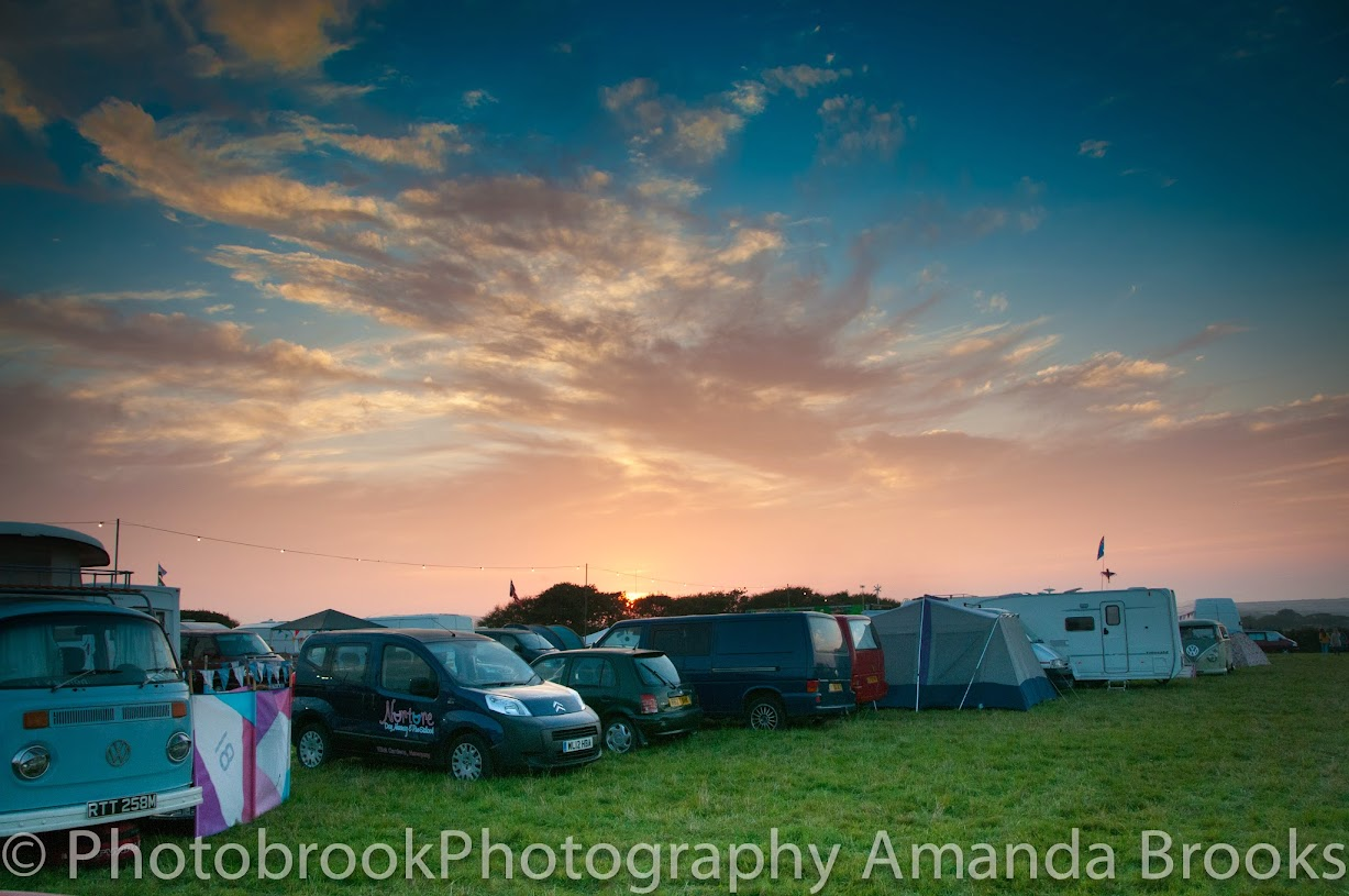 Sunset at the little orchard cider festival