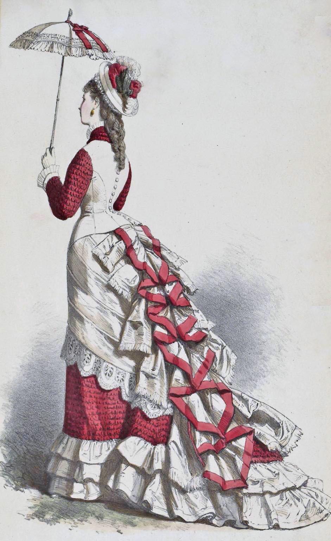 Soft bustle fashion 1870 Women s Clothing - 1870s - Clothing - Dating - Landscape Change