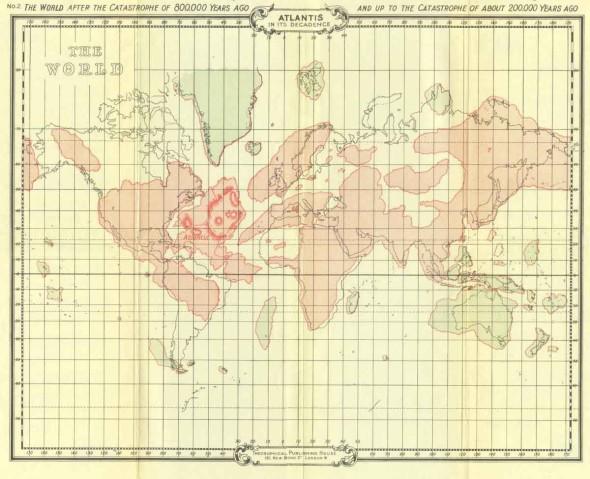Mapa Atlantida e Lemuria a 200 mil anos