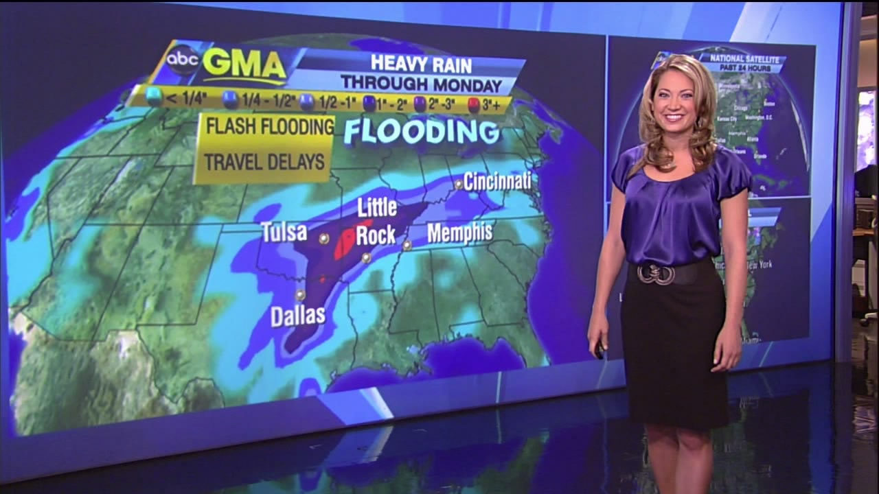 Ginger Zee - purple satin top
