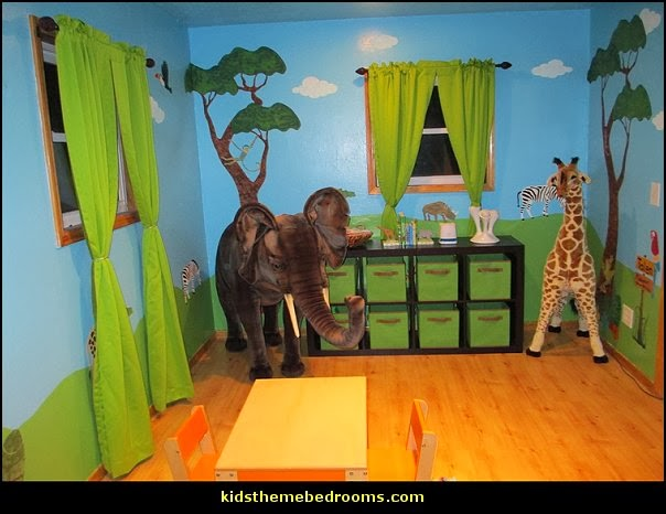 Wall decor jungle nursery room ornament for Baby jungle mural