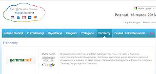 Informacja o konferencji organizowanej przez Gammanet http://www.akademiagoogle.pl/
