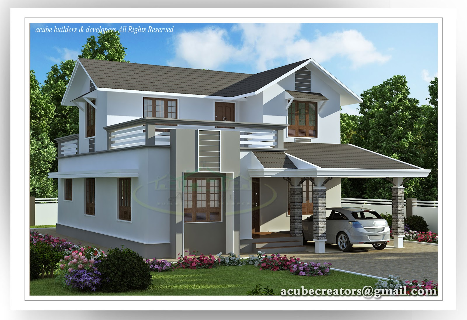 beautiful villa   1983 sq ft plan 151 acube builders amp developers