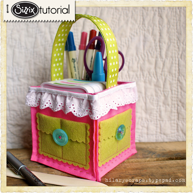 Sizzix Die Cutting Tutorial: Framelits Supply Caddy by Hilary Kanwischer