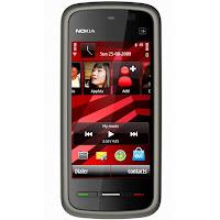 Nokia 5230 dengan warna dark.