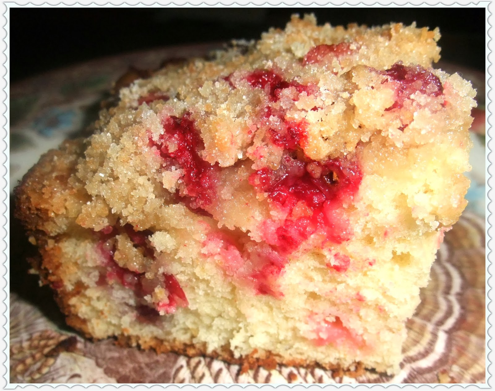 Rosie's Country Baking: Cranberry Buckle with Vanilla Crumb