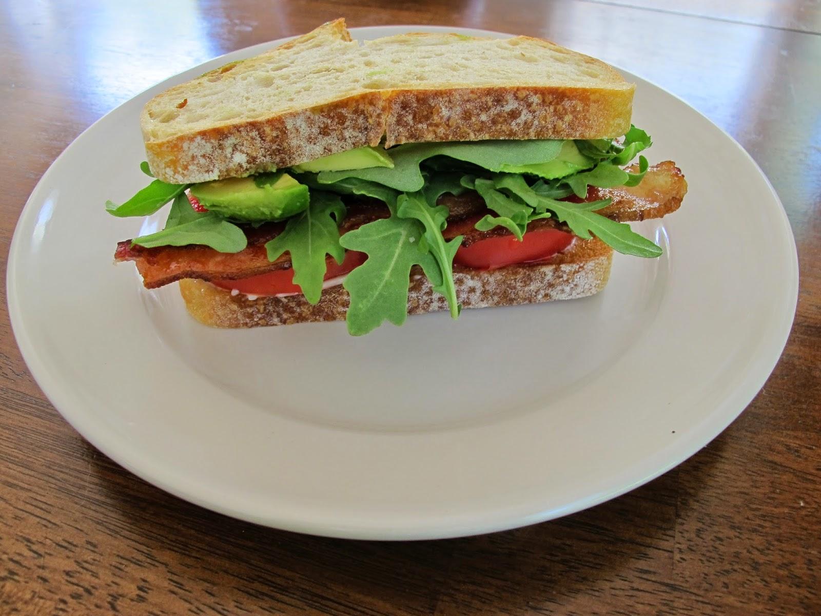Heirloom Tomato BLT Sandwiches with Avocado