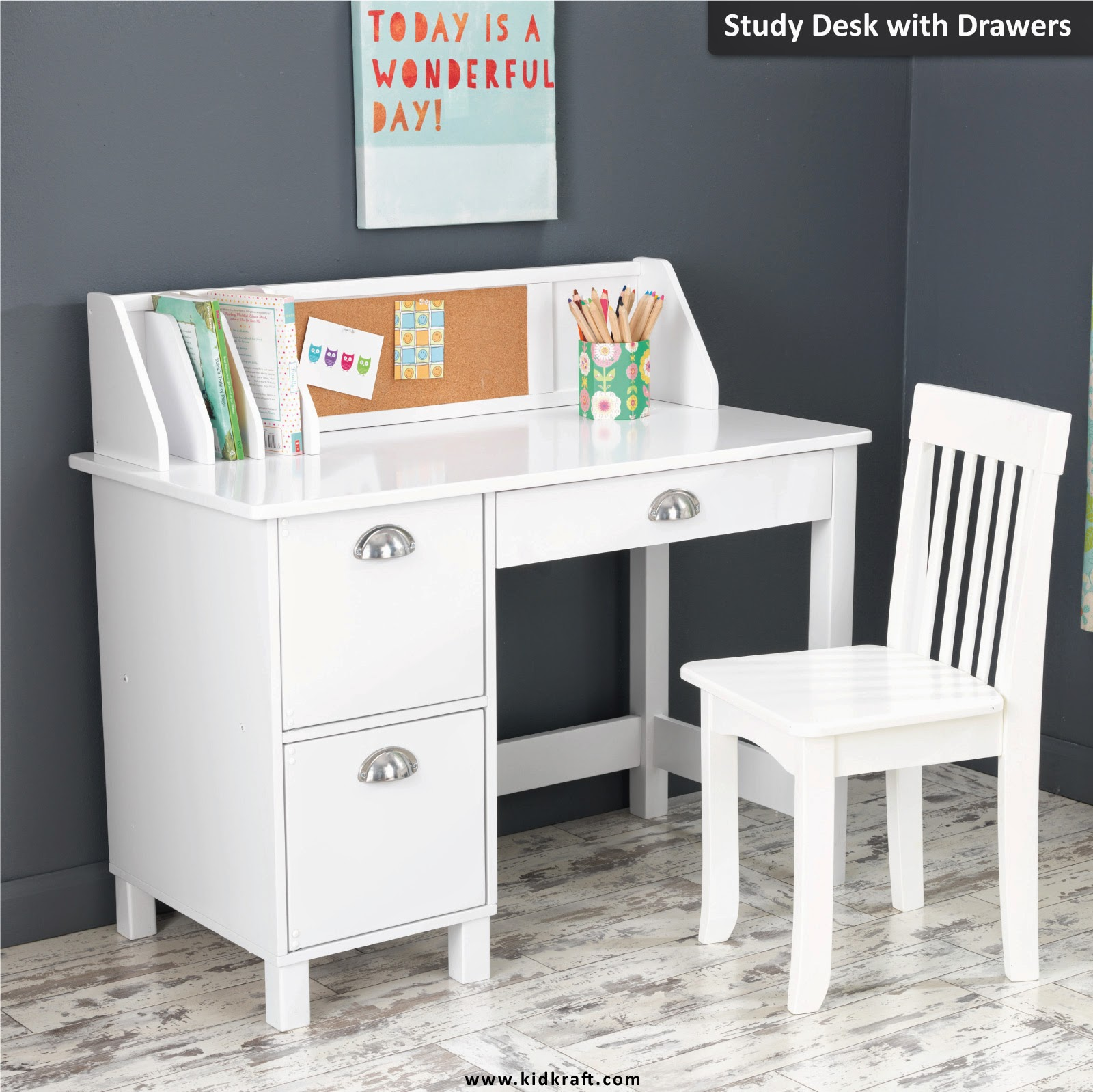 Kidkraft Toys Amp Furniture New Study Desk With Drawers