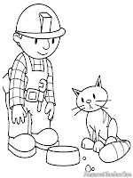 Bob The Builder Memberi Makan Kucing Peliharaannya