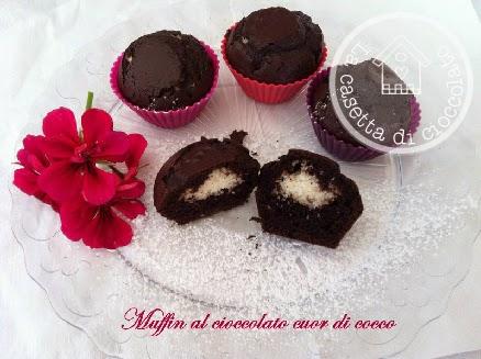 muffin al cioccolato cuor di cocco