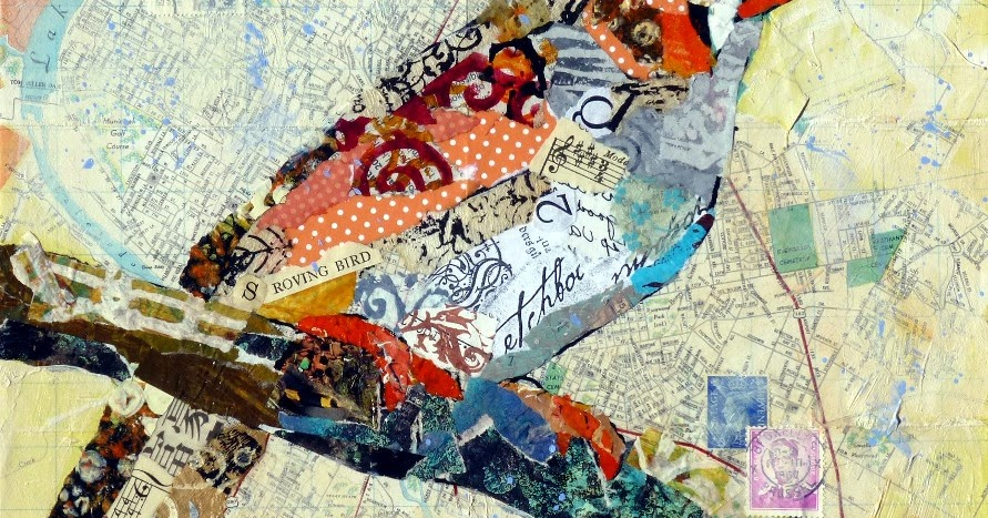 Painted paper collage artists