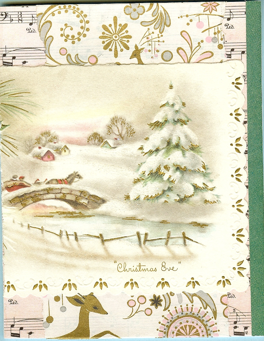 Viewing Gallery For - Vintage Christmas Scrapbook Paper