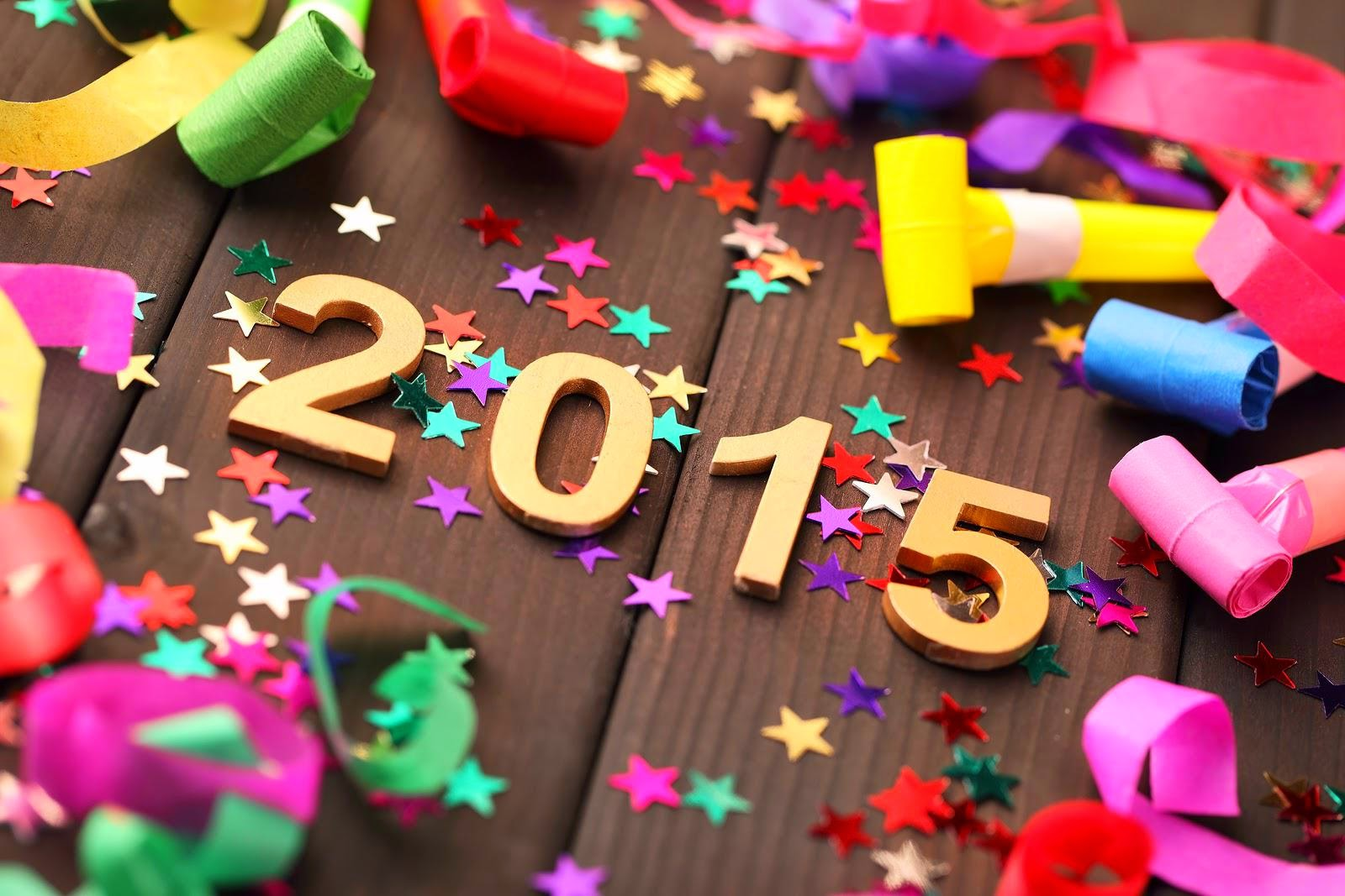 New year 2015 colorful wallpaper free download