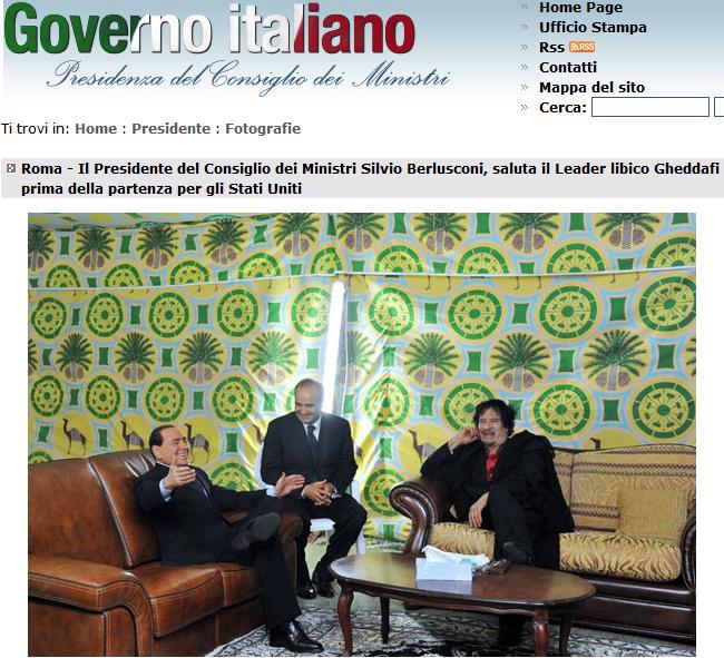 Nonleggerlo foto che si trovano sul sito del governo for Sito governo italiano