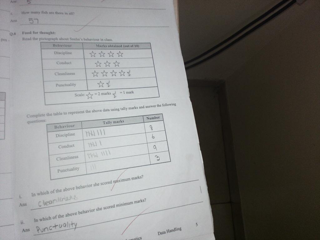 PIS VADODARA STD 4: math worksheet