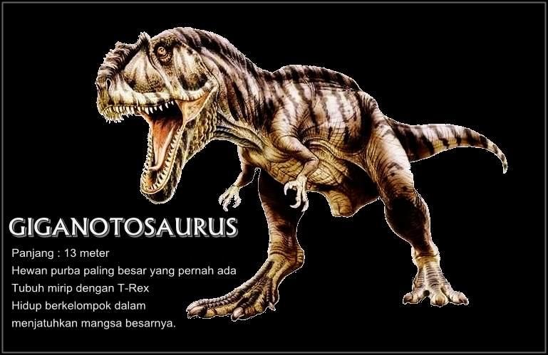 Giganotosaurus hewan purba terbesar