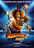 Cartel de la película 'Madagascar 3'