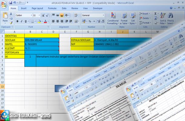 Aplikasi Pembuatan Silabus dan RPP dengan Microsoft Excel