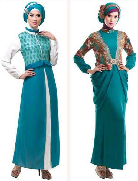 Gambar Fashion Model Baju Gamis Muslim Pesta Terbaru Modern