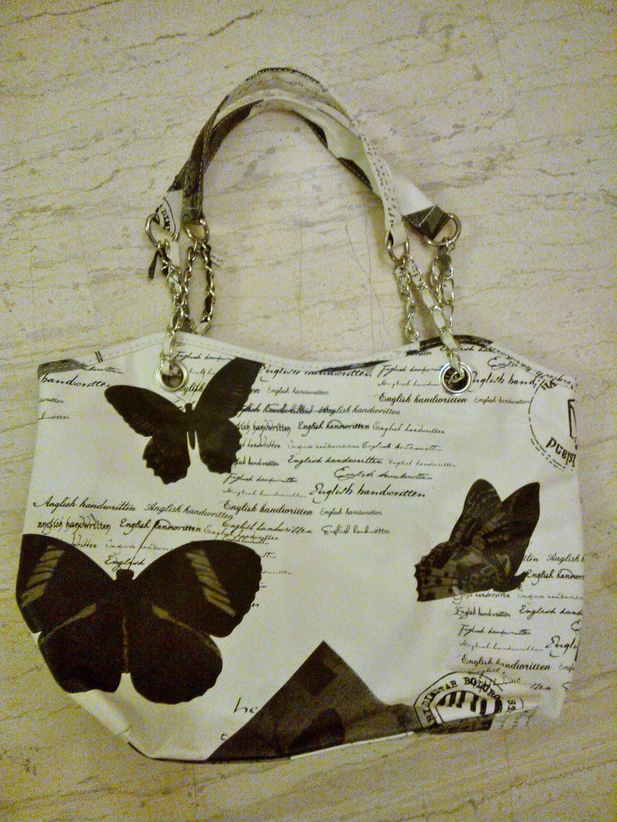 Τσάντα μαυρόασπρη με κολάζ μόδας !!! 9fc8659a10b