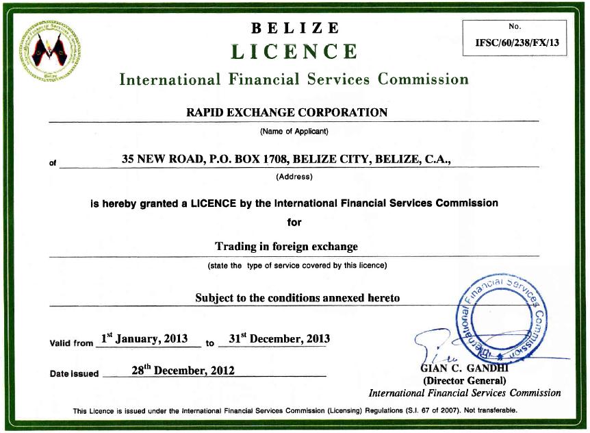 Belize forex licence форекс клуб реально ли в нем заработать
