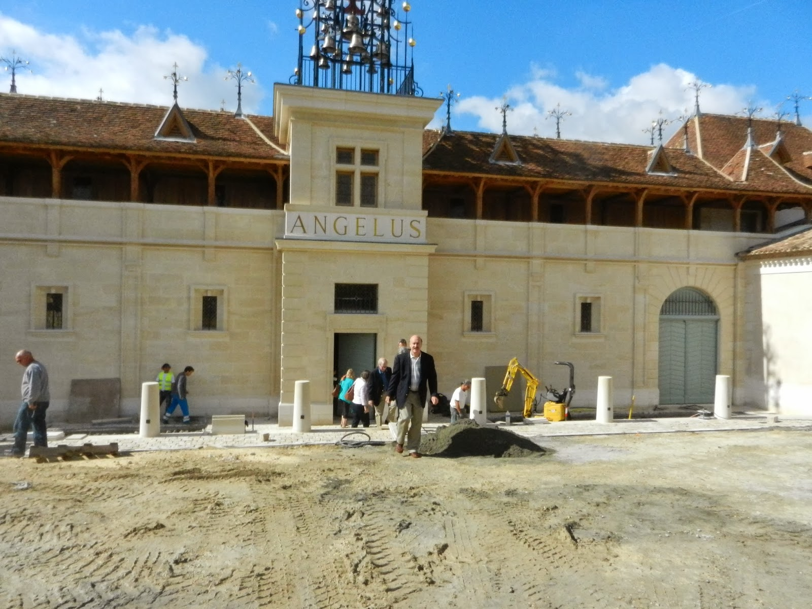 Schiller wine visiting a holy construction site for Chateau angelus