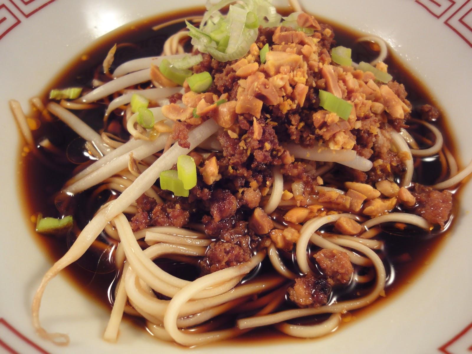 , dan dan noodles, sesame oil base, sesame oil, recipe, authentic dan ...
