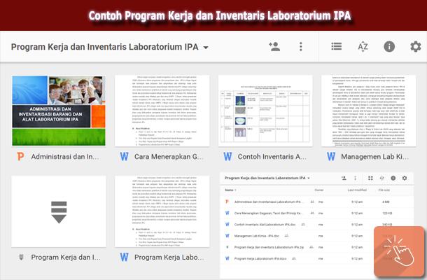 Contoh Program Kerja dan Inventaris Laboratorium IPA