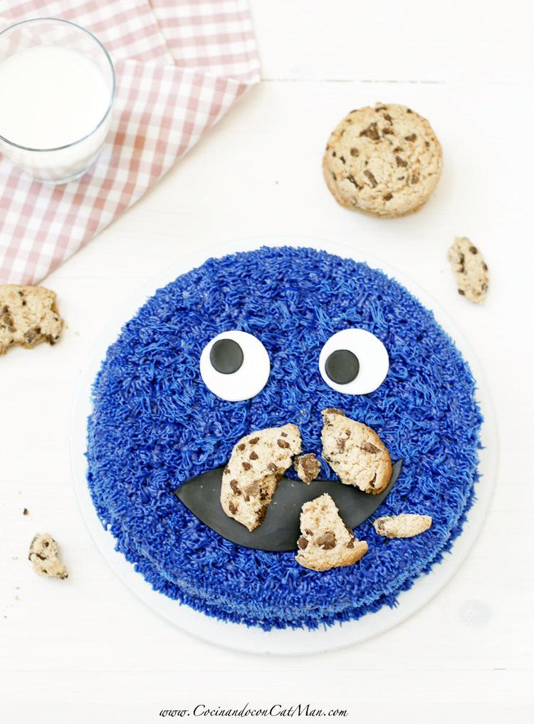 cómo hacer tarta monstruo de las galletas