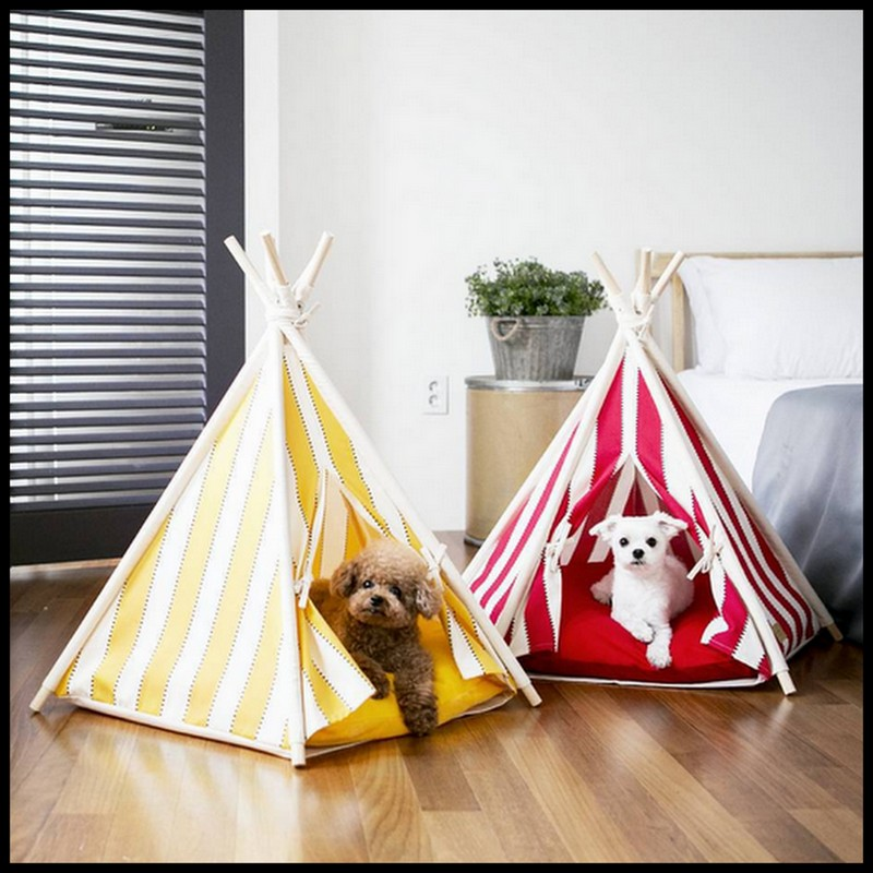 Dollar store crafter tipi teepee tent dog house for Dog tipi diy