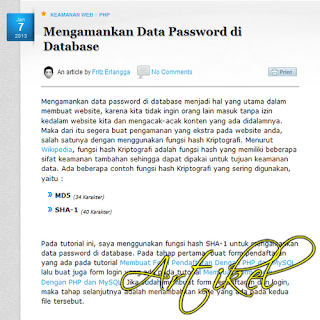 Mengamankan Data Password