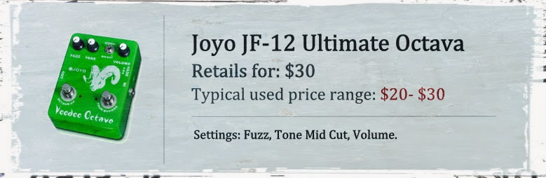 Joyo JF-12 Ultimate Octava: Fuzz and Octave Pedal with Distortion