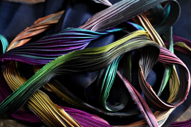 colorful shibori silk ribbon - wish list / catherine masi