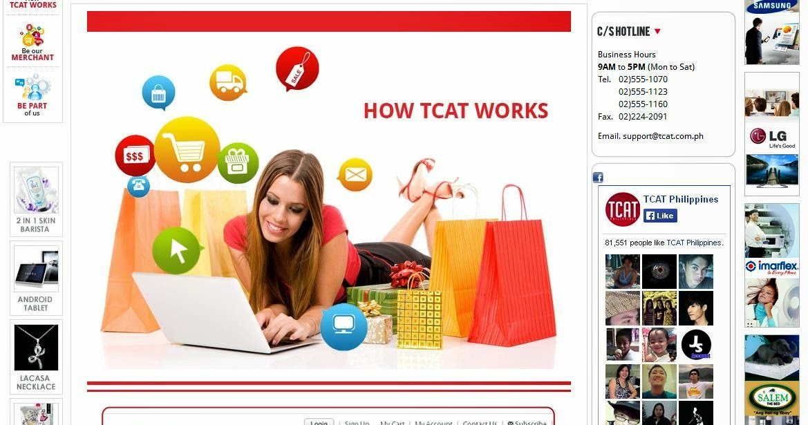 TCAT: How it works banner: print screen